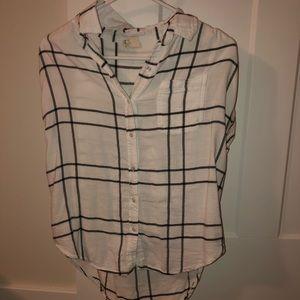 Flannel short sleeve shirt